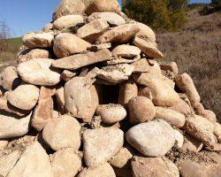 Montonera de piedras